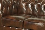 Chesterfield Sofa Class Leather | 2-seater | Cloudy Brown_