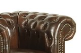 Chesterfield Armchair Class Leather | 1-seater | Cloudy Brown_