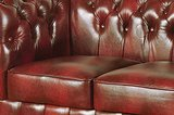 Chesterfield Sofa Class Leather | 2-seater | Cloudy Red_