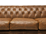 Chesterfield Sofa Vintage Leather   3-seater    Alabama C1059   12 years guarantee_