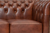 Chesterfield Armchair Class Leather   Cloudy Brown Old   12 jaar Guarantee_