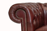 Chesterfield Sofa Class Leather | 3-Seater | Cloudy Red | 12 jaar Guarantee_