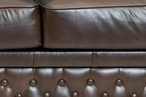 Chesterfield Sofa  First Class Leather | 2-Seater | Cloudy Brown Dark | 12 jaar Guarantee_