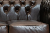 Chesterfield Sofa  First Class Leather | 3-Seater | Cloudy Brown Dark | 12 jaar Guarantee_