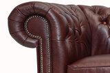 Chesterfield Sofa  First Class Leather   3-Seater   Cloudy Red  12 jaar Guarantee_