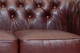 Chesterfield Sofa  First Class Leather | 3-Seater | Shiny Black| 12 jaar Guarantee_