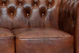 Chesterfield Sofa  First Class Leather | 3-seater | Cloudy Brown Old| 12 years guarantee_
