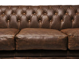 Chesterfield Sofa Vintage Leather | 1 + 1 + 3 seater  | C0869 | 12 years guarantee_