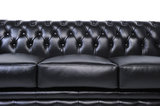 Chesterfield Sofa Original Leather | 1 + 1 + 3 seater  | Black | 12 years guarantee_