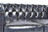 Chesterfield Sofa Original Leather | 1 + 2 seater  | Wash Off Blue | 12 years guarantee_