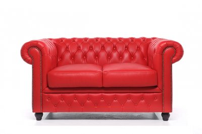 Chesterfield Original 2-Seat Sofa Red
