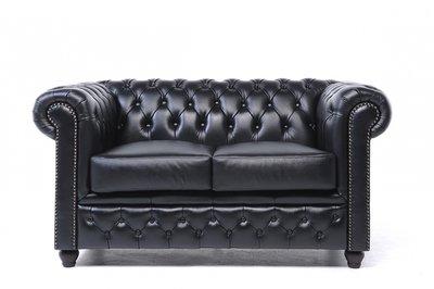 Chesterfield Original 2-Seat Sofa Black