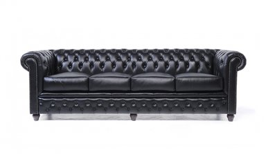 Chesterfield Original 4-seat Sofa Black