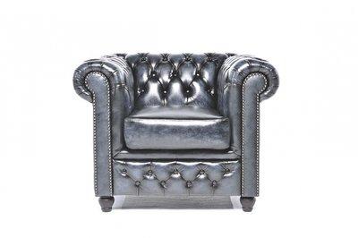 Chesterfield Original Armchair Wash Off Blue