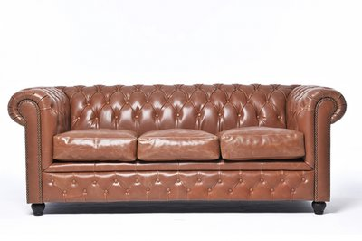 Chesterfield Vintage 3-seat Sofa Mocca