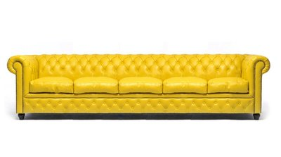 Chesterfield Original 5-seat Sofa Yellow