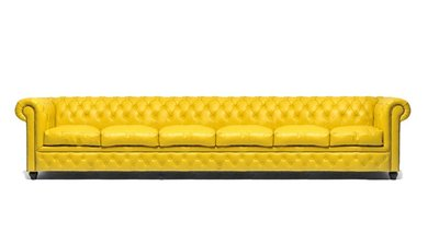 Chesterfield Original 6-seat Sofa Yellow