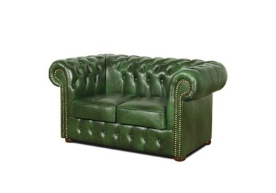 Chesterfield Sofa Class Leather | 2-seater | Cloudy Green
