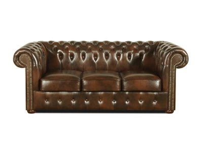 Chesterfield Sofa Class Leather | 3-seater | Cloudy Brown