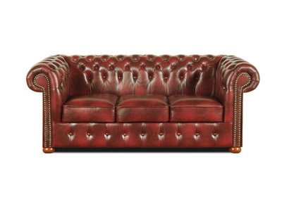 Chesterfield Sofa Class 3-seater Cloudy Red