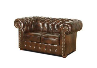 Chesterfield Sofa Class Leather | 2-seater | Cloudy Brown