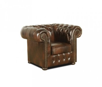 Chesterfield Armchair Class Leather | 1-seater | Cloudy Brown
