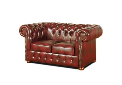 Chesterfield Sofa Class Leather | 2-seater | Cloudy Red