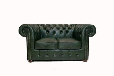 Chesterfield Sofa Class Leather | 2-Seater | Cloudy Green| 12 jaar Guarantee
