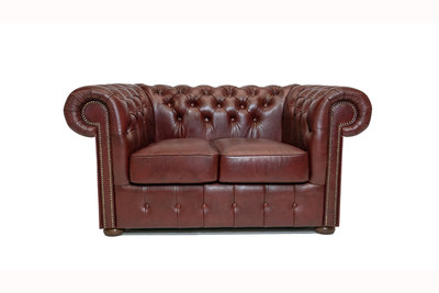 Chesterfield Sofa Class Leather | 2-Seater | Cloudy Red | 12 jaar Guarantee
