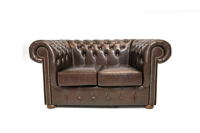 Chesterfield Sofa Class Leather | 2-Seater | Cloudy Brown Dark | 12 jaar Guarantee