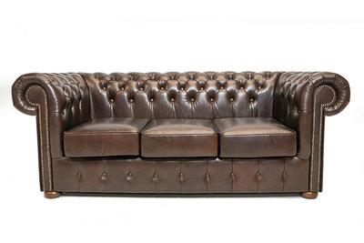 Chesterfield Sofa Class Leather | 3-Seater | Cloudy Brown Dark| 12 jaar Guarantee