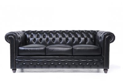 Chesterfield Original 3-Seat Sofa Black