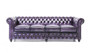 Chesterfield Original 4-seat Sofa Wash Off Purple