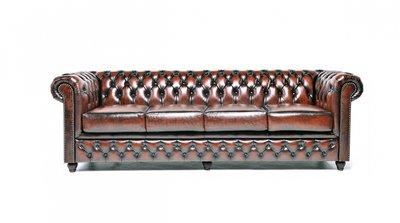 Chesterfield Original 4-seat Sofa Wash Off Brown