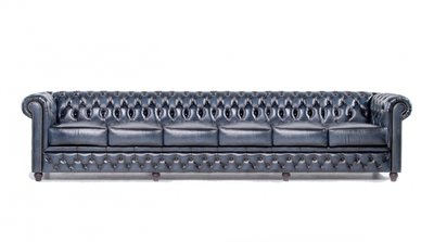 Chesterfield Original 6-seat Sofa Wash Off Blue