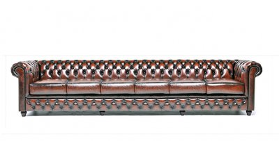 Chesterfield Original 6-seat Sofa Wash Off Brown