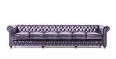Chesterfield Original 6-seat Sofa Wash Off Purple