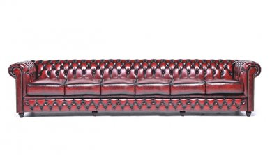 Chesterfield Original 6-seat Sofa Wash Off Red