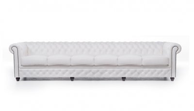 Chesterfield Original 6-seat Sofa White