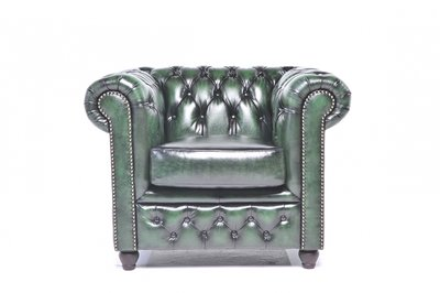 Chesterfield Original Armchair Wash Off Green