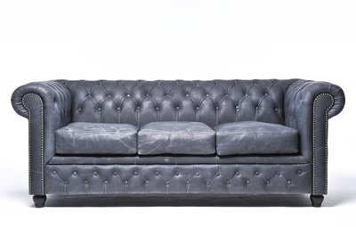 Chesterfield Vintage 3-seat Sofa Black