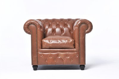Chesterfield Vintage Armchair Mocca