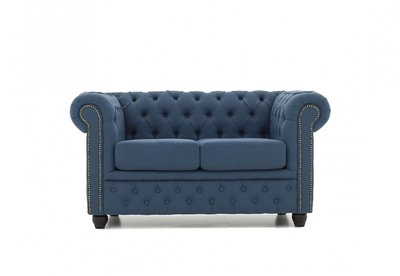 Chesterfield Fabric Pitch Blue 2-seater sofa