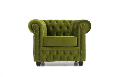 Chesterfield Armchair Fabric Velvet | Green | 12 years guarantee