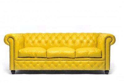 Chesterfield Original 3-Seat Sofa Yellow