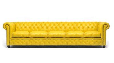 Chesterfield Original 5-seat Sofa Yellow