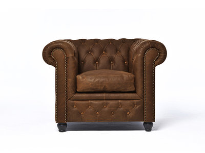 Chesterfield Sofa Vintage Leather | 2-seater  | C0871 | 12 years guarantee