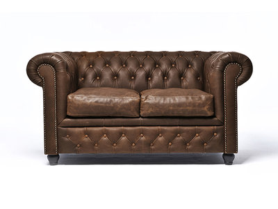 Chesterfield Sofa Vintage Leather | 2-seater  | C0869 | 12 years guarantee