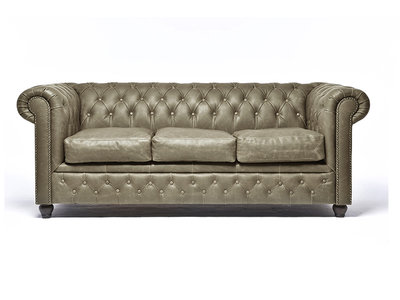 Chesterfield Sofa Vintage Leather | 3-seater  | Alabama C1057 | 12 years guarantee