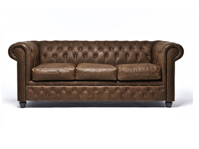Chesterfield Sofa Vintage Leather | 3-seater  | C0869 | 12 years guarantee